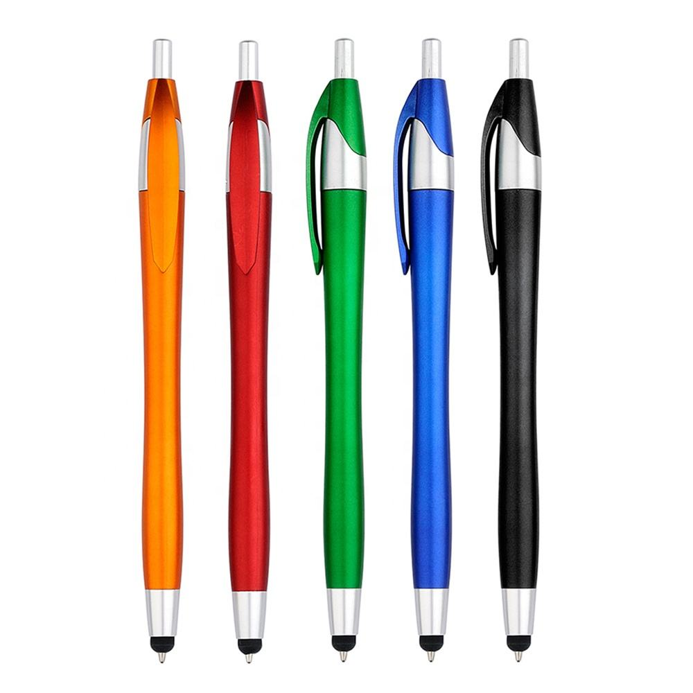 Popular Active Stylus Pen Plastic Press Slim Small Gourd Soft Touch screen stylus pen Promotional Logo Pen