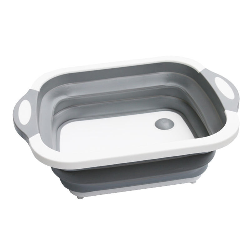 Folding Chopping Blocks Foldable Vegetable basin Kitchen Cutting Boards Folding Cutting Board Washing Basin Drain basket bucket