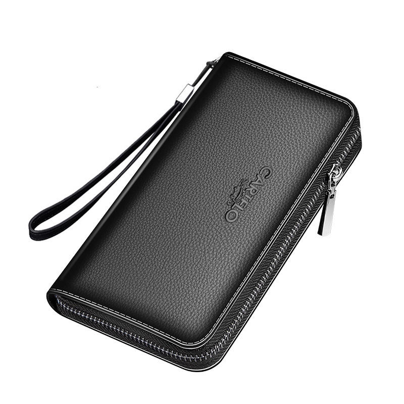 China Wholesale Reasonable Price Men Clutch Bag Multifunctional Leather Long wallet For Men