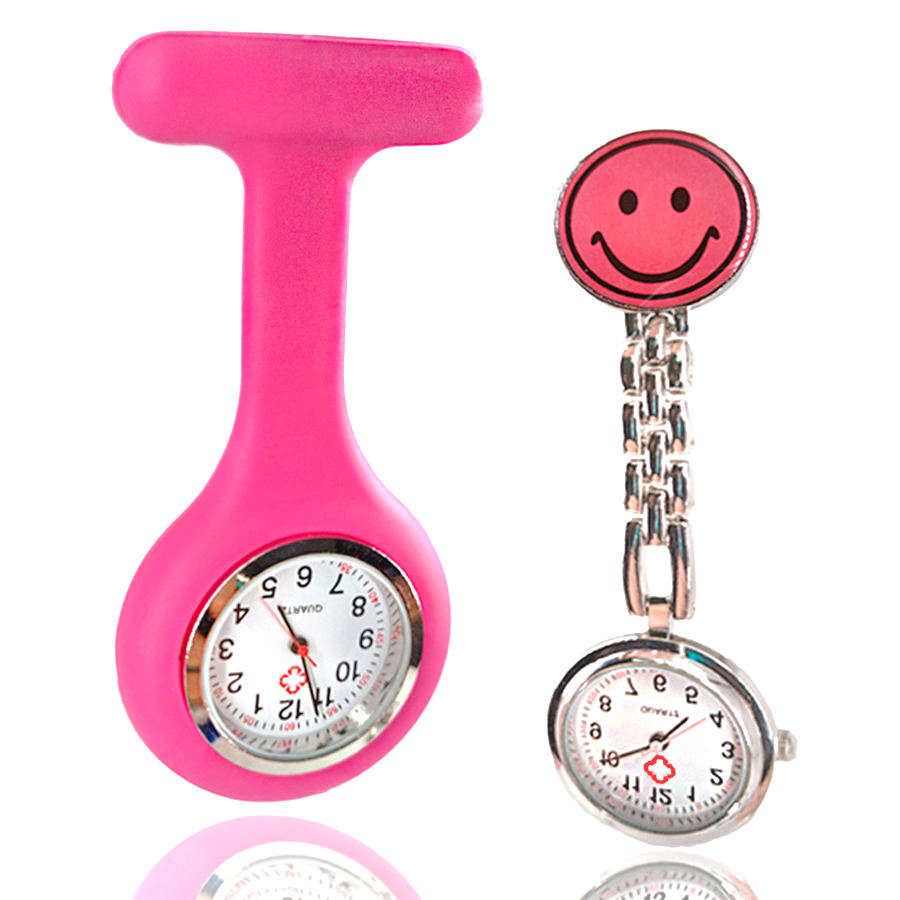 High Quality Customized Logo Clip Silicone Rubber Breast Nurse Watch