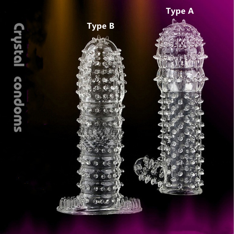 Hot G Point Stimulation Delay Ejaculation Silicon Crystal Magic Spike Dragon Condom Reusable Sleeve Condoms for Men