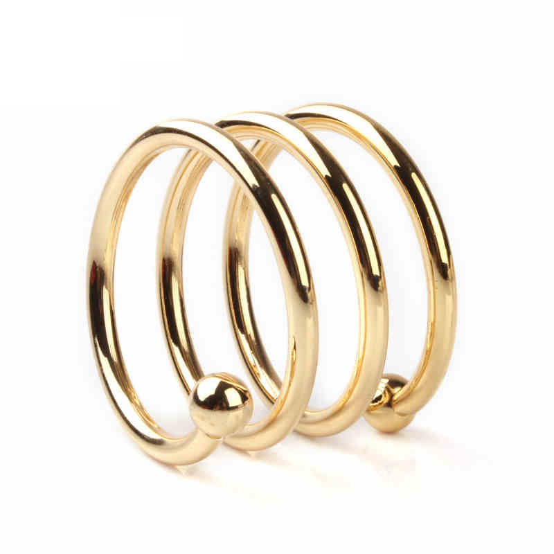 Wholesale cheap gold napkin rings wedding royal and elegant metal bling napkin ring for wedding and events