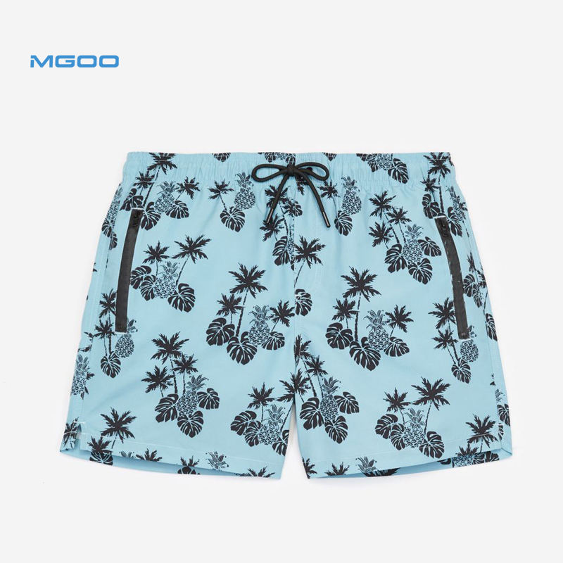Summer Collection Tropical Hawaii Printed Casual Urban Trousers Black Swim Shorts Custom Print