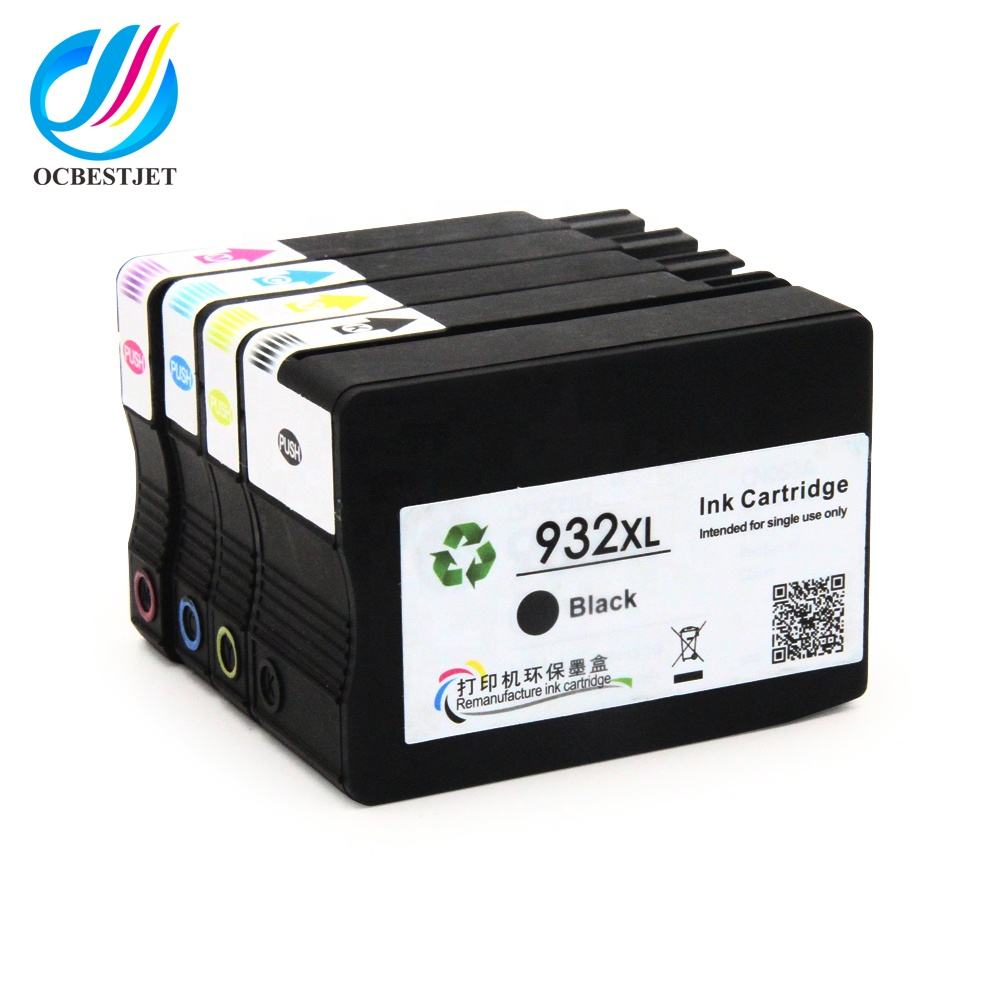 Ocbestjet For HP 932 933 Ink Cartridge Compatible 933XL Full With Ink For HP Officejet 6100 H611a Printer Ink Cartridge