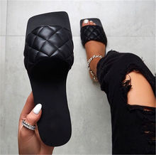 Women sandals 2020 summer open toe woman shoes Sexy Square head flat slipper ladies outdoor beach casual Sandalias female shoes
