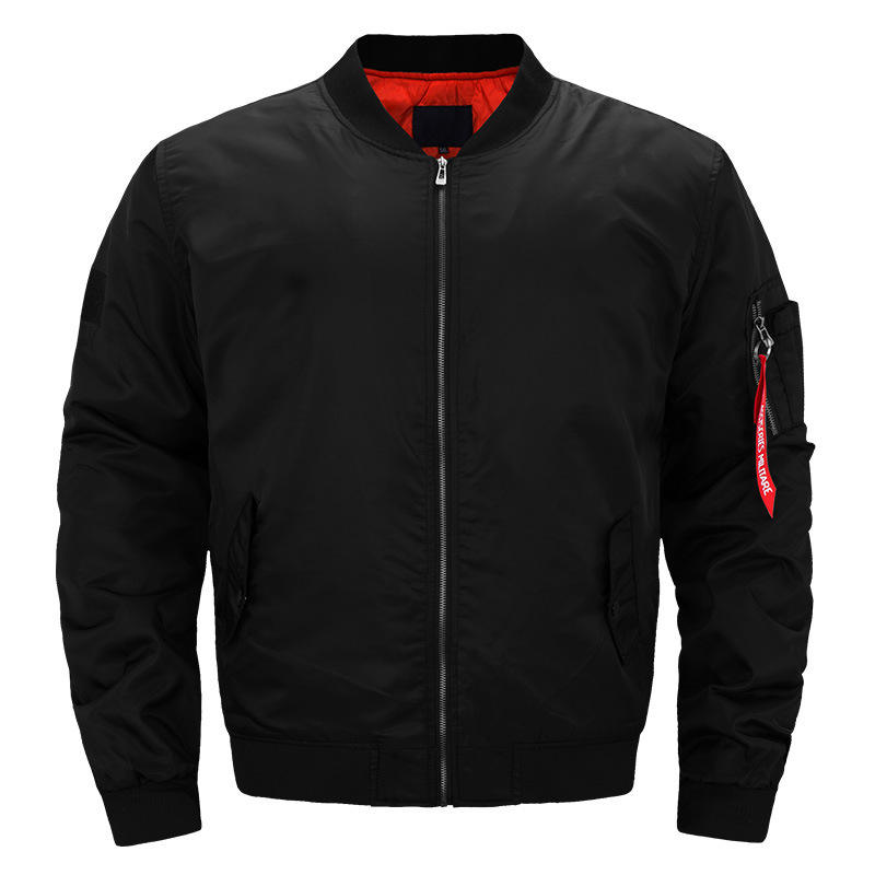 Topgear wholesale high quality mens black bomber jacket