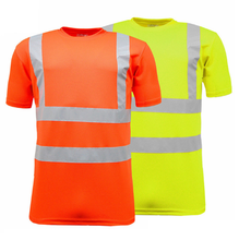 Hi vis safety t shirt custom mens reflective safety t shirt