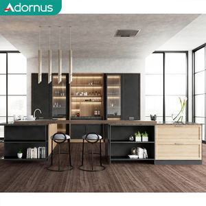 Adornus flat pack prefabricated complete waterproof metal new model modern kitchen cabinet sets guangdong sale in lahore