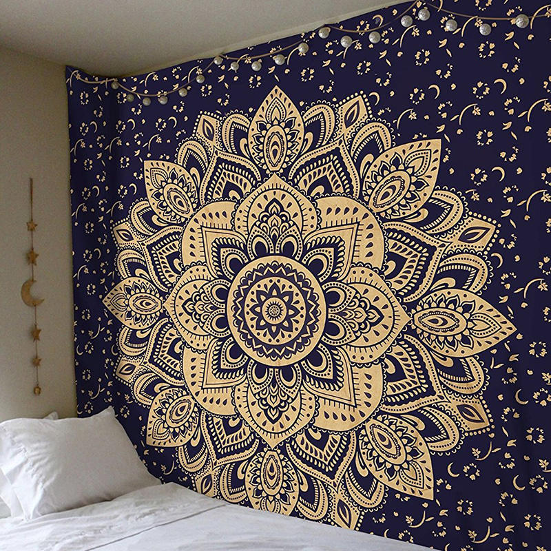 hanging Twin Hippie Mandala Bohemian wall tapestry Psychedelic Indian Bedspread Magical Thinking Tapestry