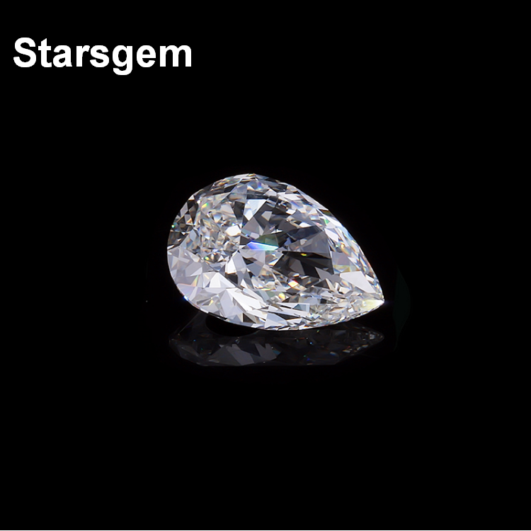 WuZhou Starsgem Free Shipping 1 Carat VS2 F Pear Lab Grown Diamond