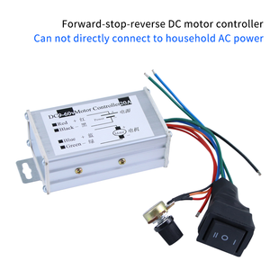 Brushed DC motor controller forward and reverse 9-60V high-power wide-pulse motor drive control panel 20A