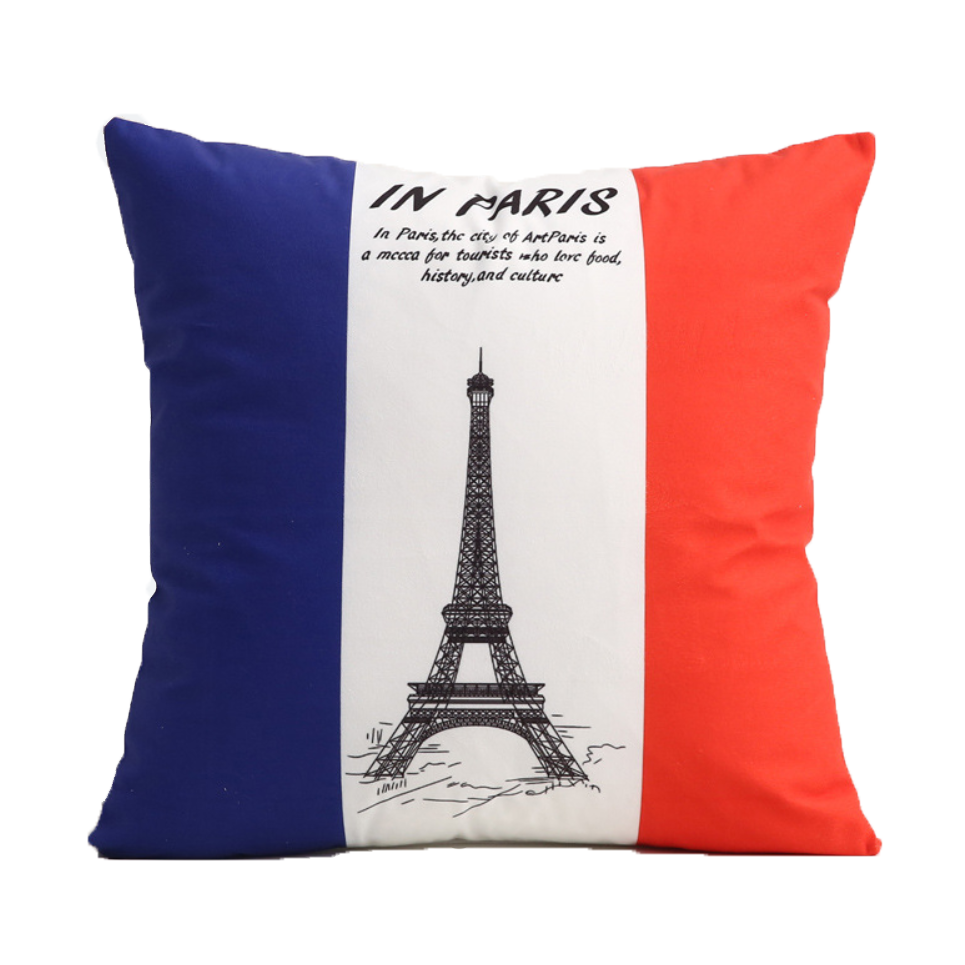 Decorative Polyester Chair Sofa Bed Square Velvet Custom Flag Cushion Pillow
