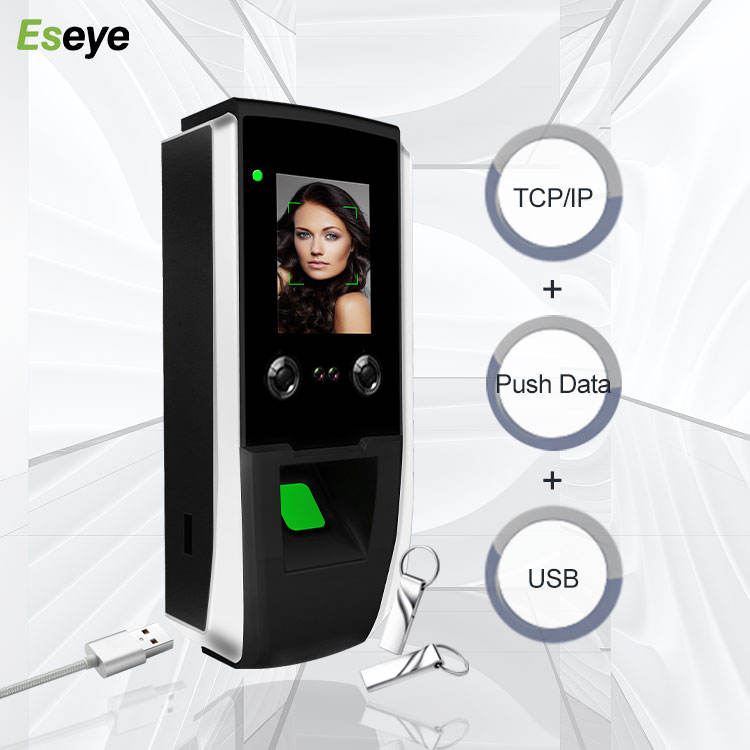 Eseye Facial Attendance Recognition Biometric WIFI Thermal Camera Time Face Contact Less Fingerprint Door Access Control