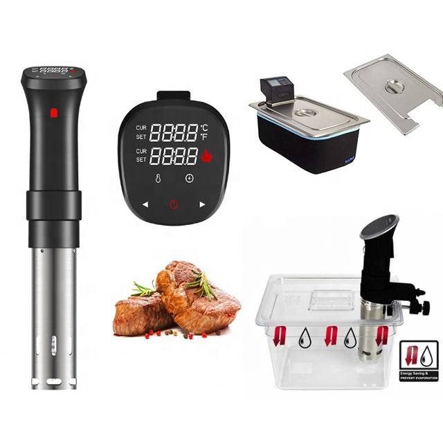 Professional Industrial Commercial SAC Sous Vide Immersion CirculatorกับSous Videคอนเทนเนอร์และRackช้า