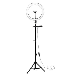 Usb Beauty Video Studio Photo Circle Lamp Dimmable Selfie Led Ring Light with 2M Tripod Stand