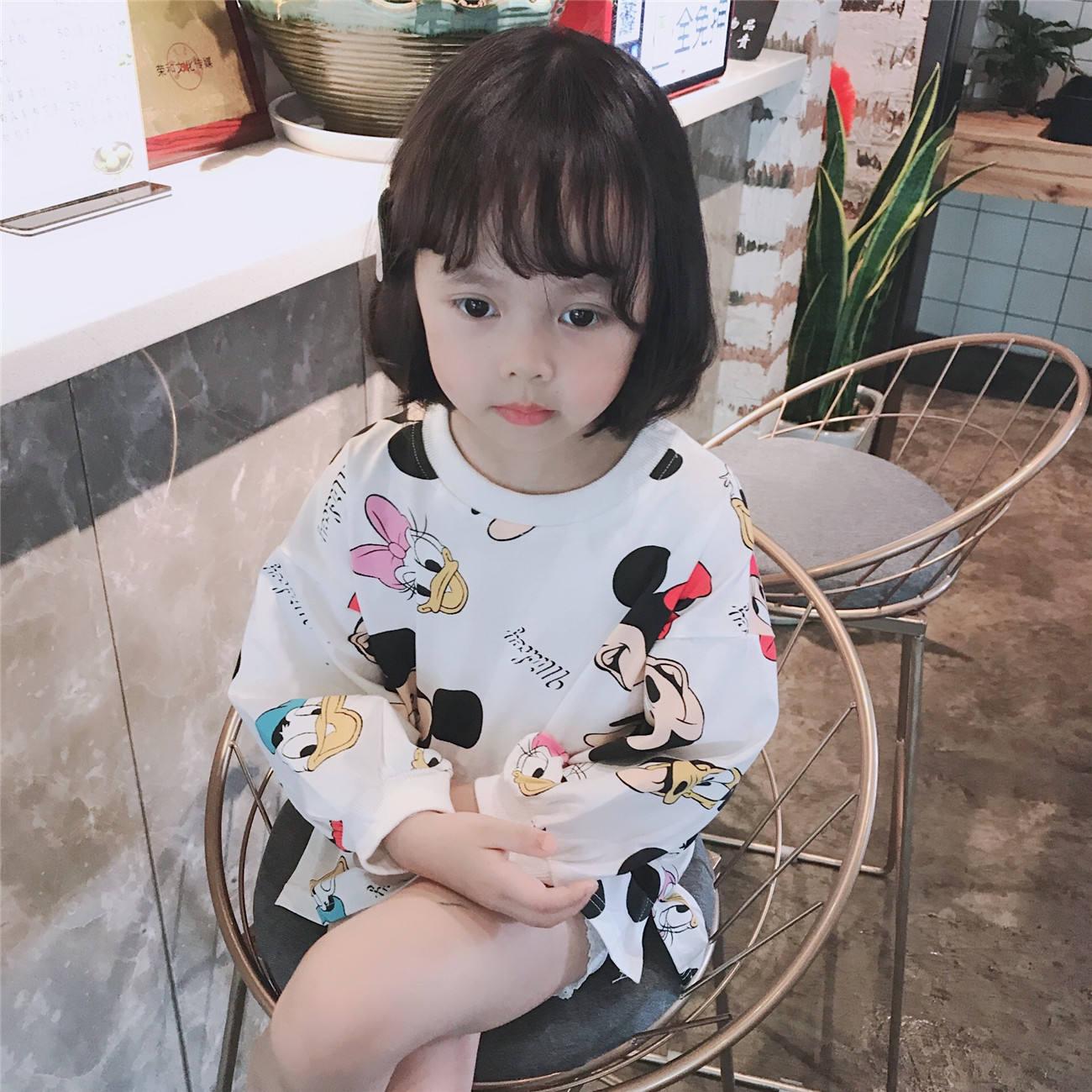Fashion Child autumn long sleeve teen knit cotton kids girl t shirt for Children girls