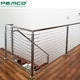 Interior Installing Balcony Diy Vertical Wire Rope Balustrade Stair Stainless Steel Tension Cable Railing Systems