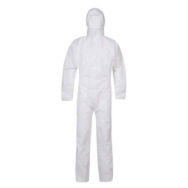 Cheap disposable non-woven fabric white overalls