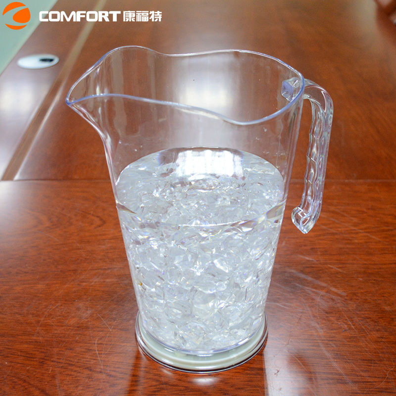 custom clear acrylic plastic tea milk pitcher with lid drink wine ice beer bottle pitcher restaurant water filter pitcher