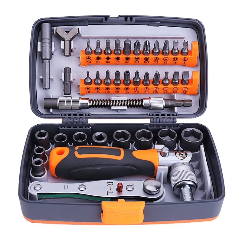 38 In 1 Ratchet Screwdriver Set Hand Tool Set Multitool Combination Screwdriver Bits Set