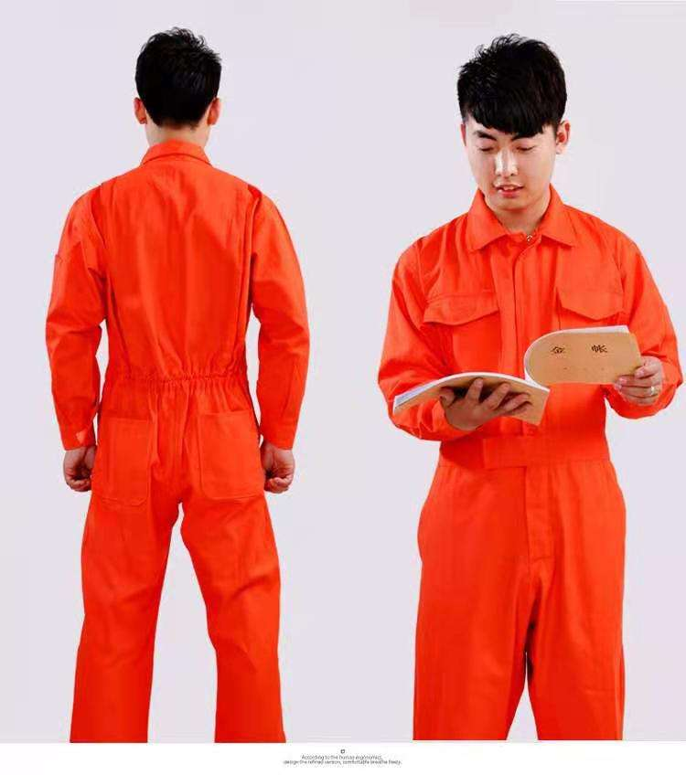 Unisex Polyester Cotton Coverall with Resistant Fabric for Working Sets