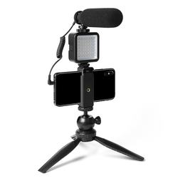 MAONO Camera Microphone with Camera Light Tripod Stand Tripo