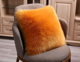 PLHMIA Polyester long hair heart shape cushion faux fur pillow