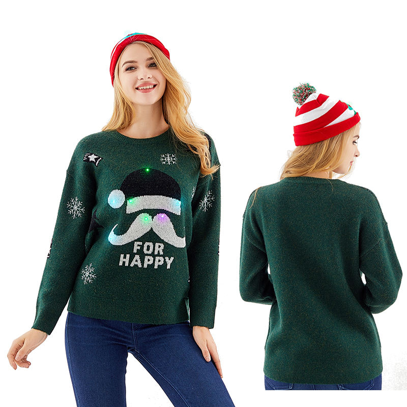 OEM UNISEX Adult Ugly Christmas Sweater Flashing LED Lights CHRISTMAS JUMPERS PREMIUM KNITTED QUALITY XMAS NOVELTY SWEATER