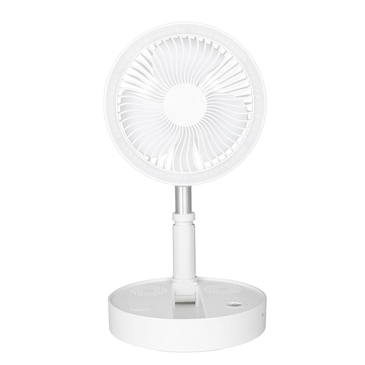 Flyhigh Mini Table Fan , Solar LED Light Electric Charger Rechargeable Winding Machine Power Bank Table Fan With Speaker