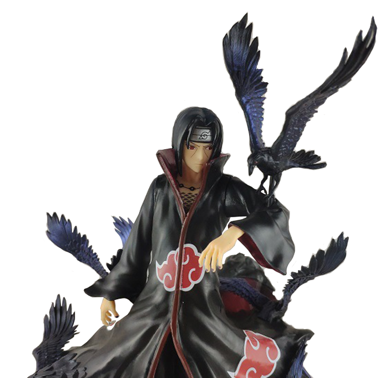 Jouet personnages dessins animés <span class=keywords><strong>NARUTO</strong></span>, modèle Uchiha, Itachi, <span class=keywords><strong>Akatsuki</strong></span>, court