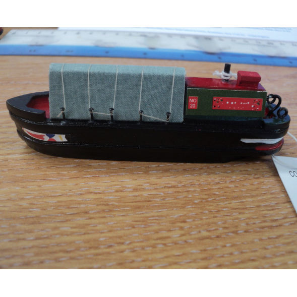 UK Holiday Style Narrow Ship model, 10x2x3.4cm, Home use craft vacation tour boat model