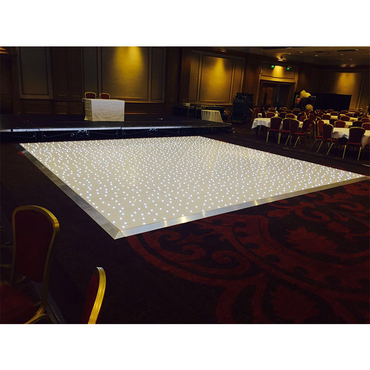 White Starlit LED Dance Floor Wedding Dance Floors