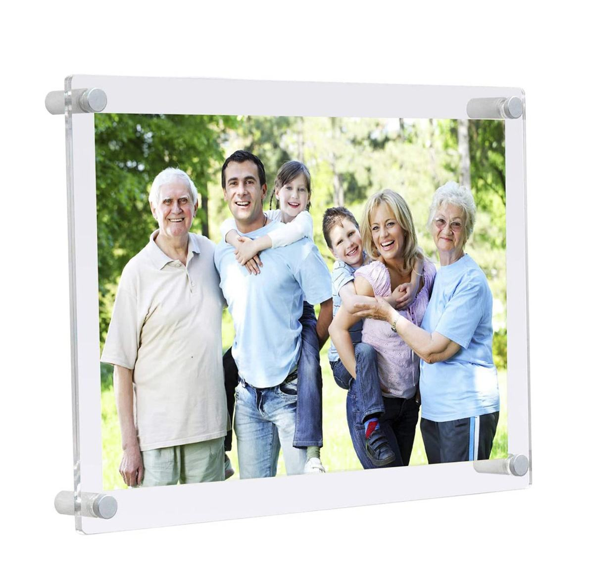 Floating Acrylic Frame 8x10 Picture Frames Bulk Wall Mounted Photo Frame