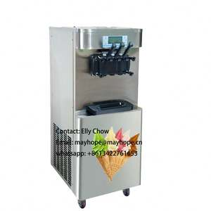 Soft serve ice cream machine frozen yogurt maker industry ice cream filling machine