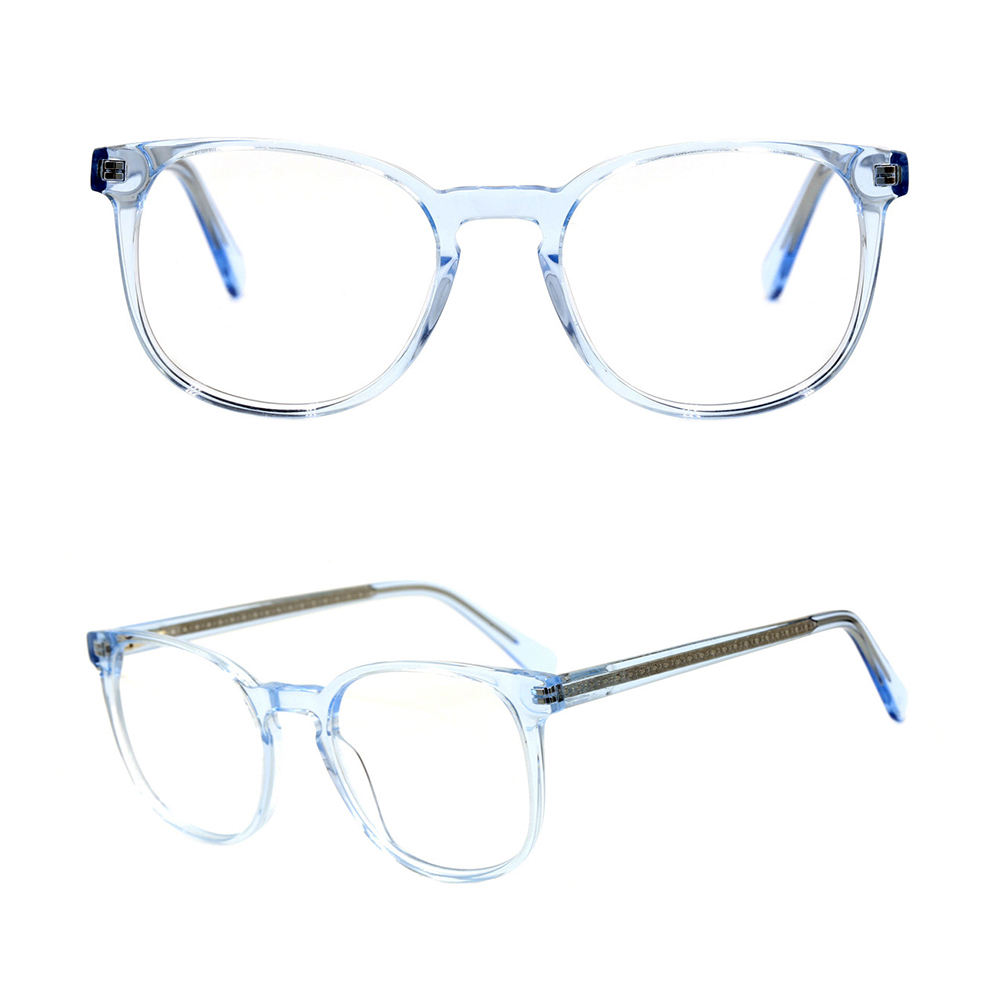 G3003 transparent clear round acetate optical frame