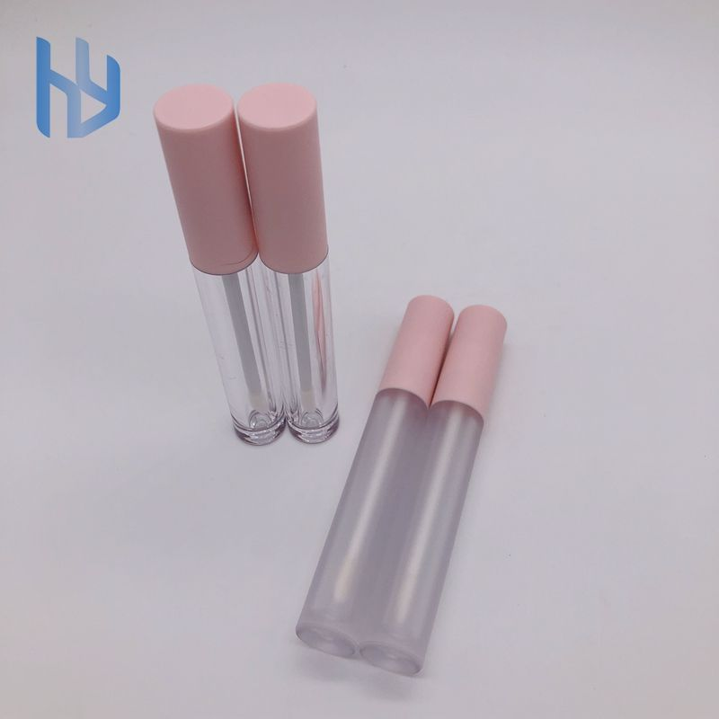 Private Label Geada Clara Rosa Lip Gloss Tubos
