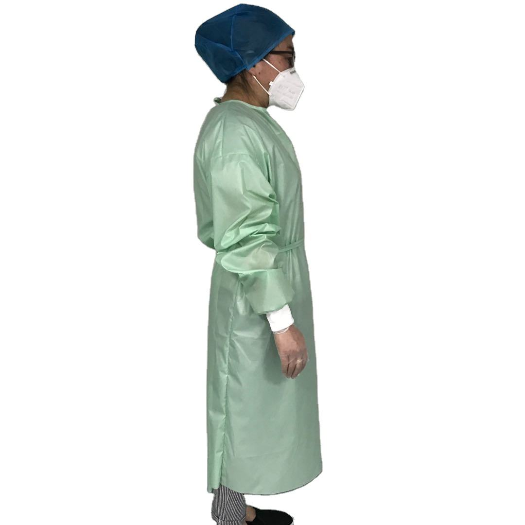 washable isolation gowns reusable level3 with knit cuff medical yellow cpe sms level2