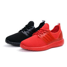 Stylish high quality comfortable red / black ladies casual shoes cheaper hot