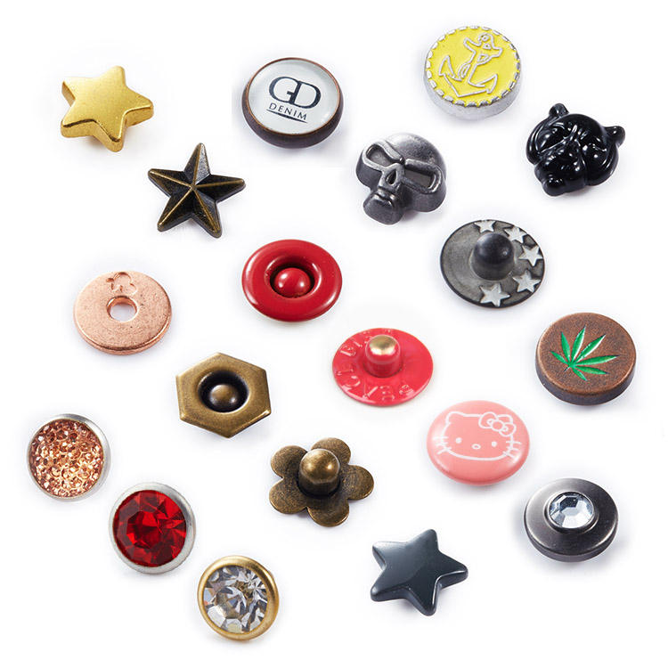 Custom Leather Crystal Rhinestone Decoration Rivet Metal Rivet For Clothing Jeans