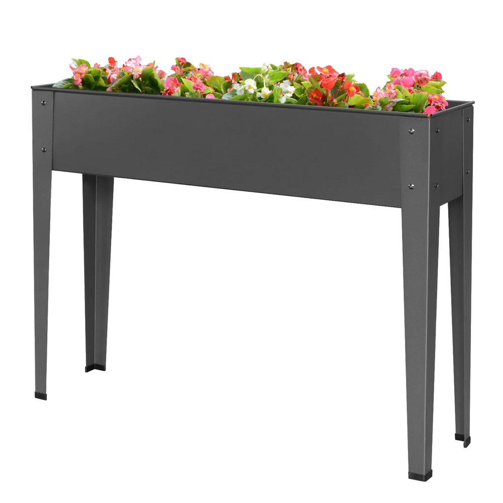 Wholesale outdoor metal garden raised bed planter box for Vegetables Flower Herb Patio