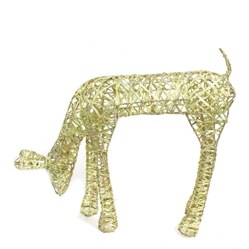 Special Design Christmas Wire Reindeer Decor Glitter Deer Table Decor