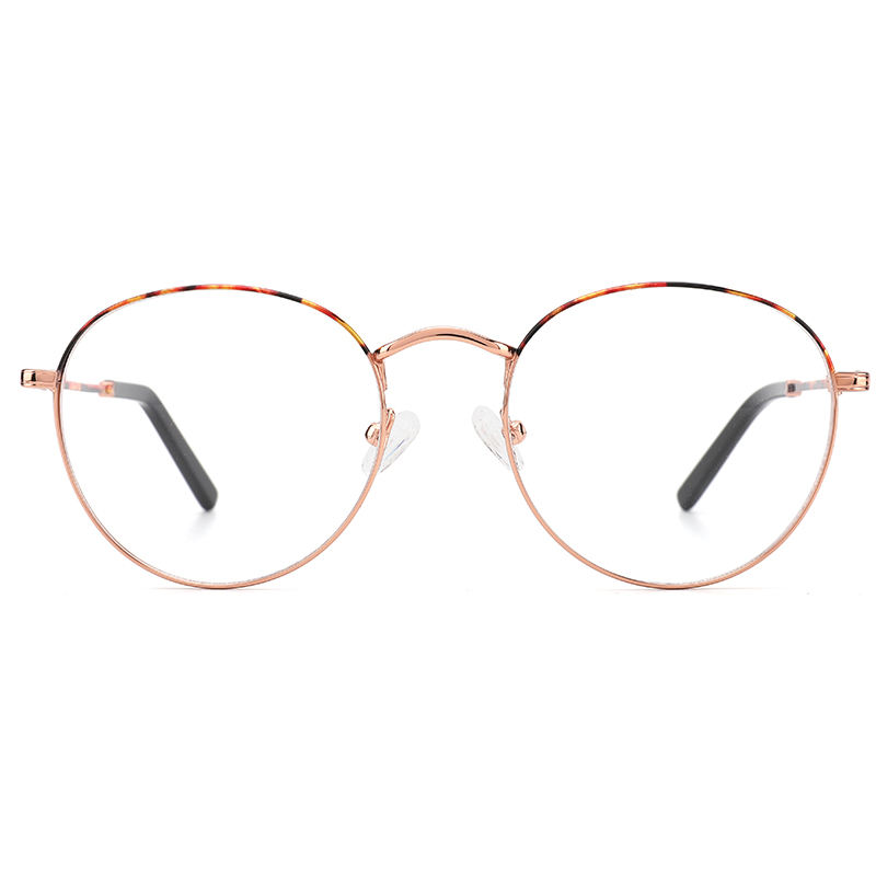 Custom Made Retro Style Round Shape Luxury Metal Optical eyeglass frames