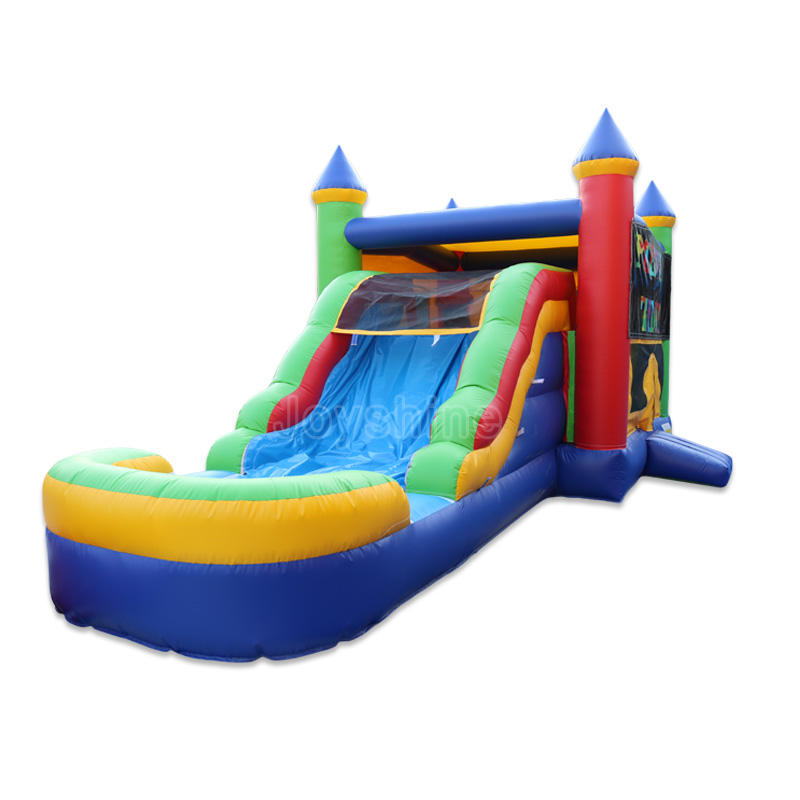 Kids Inflatable Bouncy Castle Water Slide Combo Bounce House Commercial Jumping Castles Bouncer With Water Slide Pool