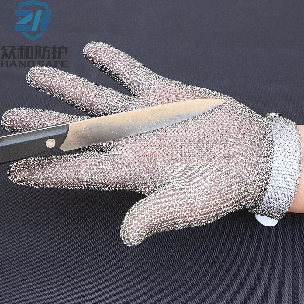 Butcher use Metal mesh cut resistant stainless steel safety glove