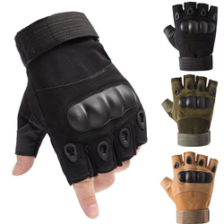 Huanwei Army Tactical Policeman Outdoor Sports Fingerless Shooting Gloves