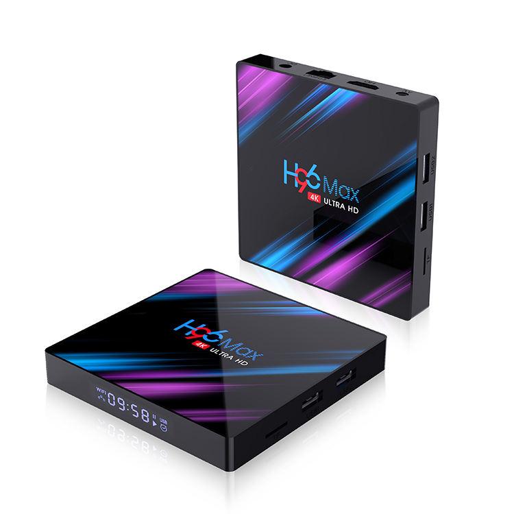 Caldo di Personalizzazione di Sostegno 3D 4k UDHTV Gioco 4gb 32gb H96 Max-3318 Android 9.0 tv box 4k in streaming tv box