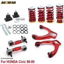 AUTOFAB - Front Camber Kits + Rear Lower Control Arms+Lower Coilcocver Spring (Fits For Honda Civic 96 UP) AF-FCACASP-02EK