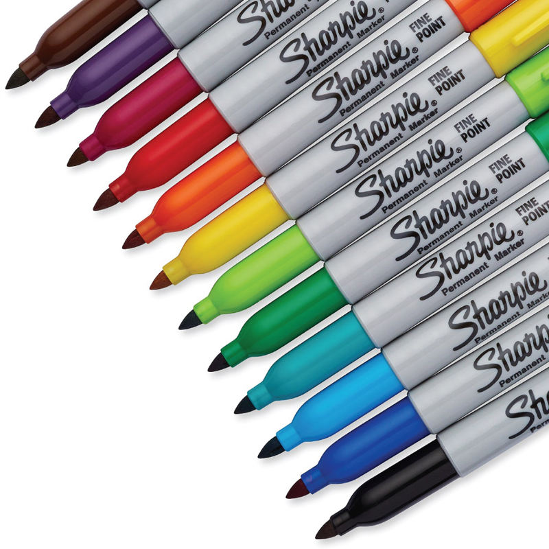 21 Colors Optional 1pcs Sharpie 31993 Eco-friendly Fine Point 1MM Permanent Art Marker Pen Dust-free Marker /
