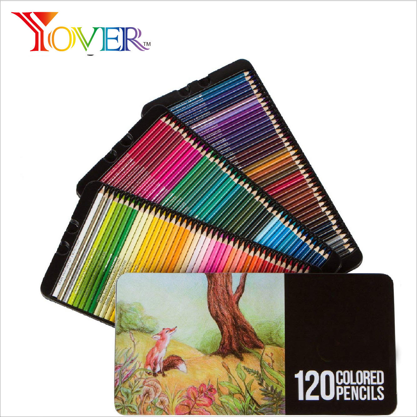 Hot Sale On-line High Quality 120pcs Premium Artist Colored Pencils in Tin Box