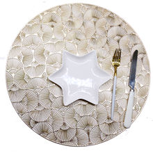 Tabletex ginkgo leaf  design PVC injection hot sale new placemat